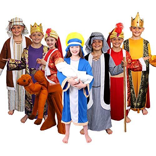 Kinder Wise Man Krippe Kostüm 3Könige Weihnachten Kinder Schule Wiseman Krippenspiel in - Kinder Krippe König Kostüm