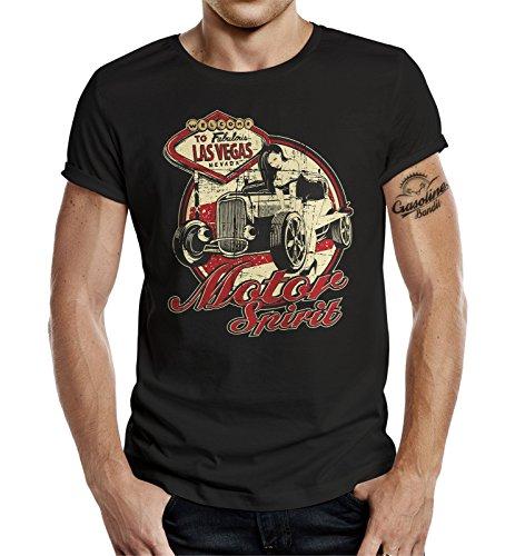 GASOLINE BANDIT® Biker T-Shirt: Motor Spirit-XXXL