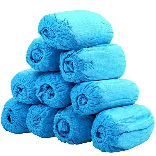 Cubrezapatos desechables protectores de zapatos reforzada antideslizante,duradera,resistente al agua,100 unidades,azul, talla única