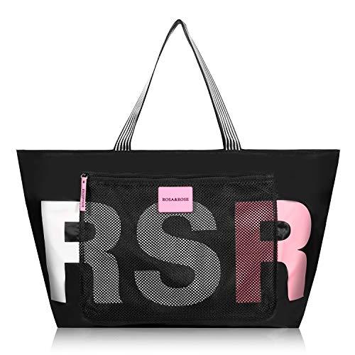 ROSA&ROSE Damen Handtasche Große Shopper Tasche Tote Schultertasche für Businesstasche Büro Schule Einkauf