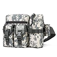 TLBAG Small Tactical Sling Chest Pack Bag Daypack Backpack Military Shoulder Bag Crossbody Duty Gear for Hunting Camping Trekking