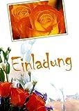 Einladungskarten mit Innentext Motiv Strauß Rosen 10 Klappkarten DIN A6 mit weißen Umschlägen im Set Einladung für jeden Anlass Hochzeit Geburtstags Party Taufe Kommunion Konfirmation Jugendweihe (K62)