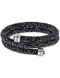 Swarovski Damen-Armreif Crystaldust Bracelet Edelstahl Kristall schwarz Rundschliff - 5250023