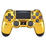 eXtremeRate PS4 Schutzhülle Case Obere Hülle Cover Oberschale Skin Schale Gehäuse Shell für Playstation 4 PS4 Slim PS4 Pro Controller JDM-040 JDM-050 JDM-055(Chrome Gold)