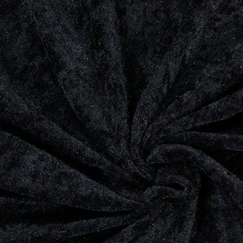 Fabulous Fabrics Pannesamt schwarz - Weicher SAMT Stoff zum Nähen von Kleider, Oberteile, Tücher und Tischdecke - Pannesamt Dekostoff & Bekleidungsstof- Meterware ab 0,5m