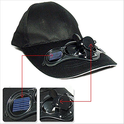 VOLTAC` ™ Baseball Hat / Cap with Solar Powered Cooling...