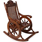 Hindoro Hand Carved Amazing Rocking Chair (Brown)