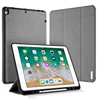 DUX DUCIS iPad Pro 12.9 inch (2017) case with pen holder smart sleeping anti fall leather cover standing cover black
