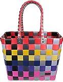 normani Einkaufstasche geflochten mit Henkeln - Tragetasche extra robust Farbe Classic/Multi
