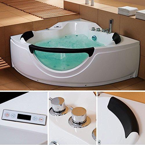TroniTechnik LUXUS Whirlpool Badewanne Wanne Eckwhirlpool Spa 2 Personen Eckwanne 150x150 - 4