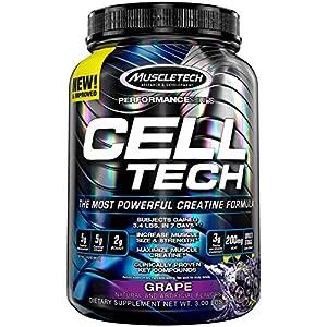 51e1sVENtZL. SS300  - MuscleTech CellTech Creatine Powder, Micronized Creatine, Creatine HCl, Grape, 1.4kg