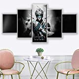 Canvas Painting 5 Piece Home Decorative Panel Game Pictures Wall Artwork Poster Modern Bedside Background SJDBF