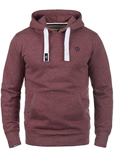 !Solid BennHood Herren Kapuzenpullover Hoodie Pullover Mit Kapuze Und Fleece-Innenseite, Größe:XL, Farbe:Wine Red Melange (8985) (Hoodie Red)