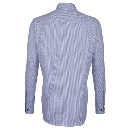 Seidensticker -  Camicia classiche  - A quadri - Classico  - Uomo Blu