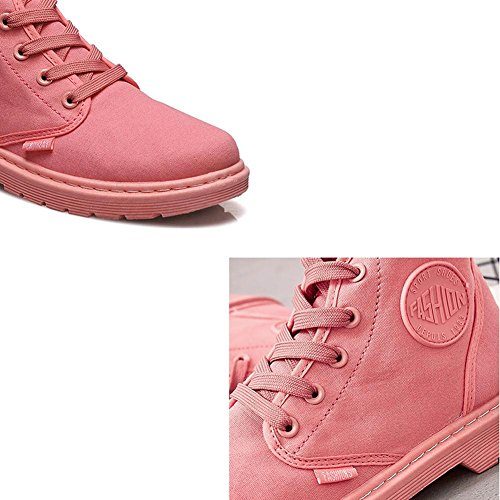 ... donne Martin Short stivali tacco piatto caldo con laccio alla caviglia  casual sport scarpe di tela ...