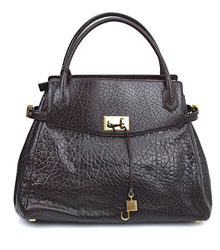 Marc Jacobs BORSA GRANDE DONNA PELLE PITONE MARRONE SCURO CAMILLE C302166 UNICA - ONE SIZE MARRONE SCURO - DARK BROWN