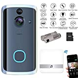 Video Doorbell with Chime, Womdee IPX7 Waterproof Wireless Home Security Camera System