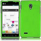 SODIAL(R) Funda Carcasa de Silicona para LG Optimus L9 P769 / P760 (T-Mobile) - Verde Neon