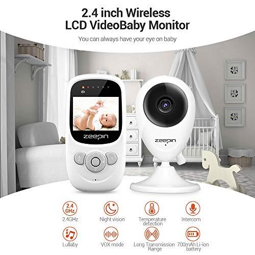 Imagen para SP880 Baby Monitor Cámara Digital Inalámbrica en Tiempo Real Televisor LCD de 2.4