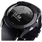 Duston V8 Compatible Wtih Samsung 4G Edge Bluetooth Wearable Smart Watch Duston Pro V8 Bluetooth Smartwatch Compatible With Samsung J7 With Sim & TF Card Support For Android IOS Mobile Phones Smartwatch With Sim & Tf Card Support With Apps Like Fa