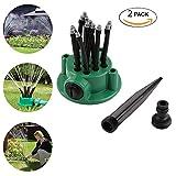 Jardín aspersor aigumi 360 grado largo automático Spray de agua boquilla herramientas de jardinería riego spray ducha pulverizador, 2pack