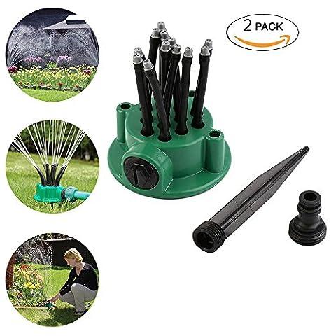 Jardin Arroseur Aigumi 360° automatique Long Eau Buse de pulvérisation outils de jardinage d'arrosage Spray Pulvérisateur de douche 2pack