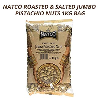 Natco Roasted & Salted Jumbo Pistachio Nuts | Great Taste | Natural | Healthy Snack | Vegan | Loaded with Nutrients | Satisfying Crunch | 1KG Bag