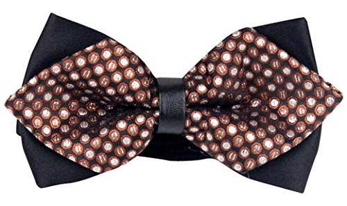 Panegy Herren Fliege Party Länge Verstellbar Polyester Seide Punkte Blumenmuster Fliegen Für Hochzeit Tuxedo Bowtie Men Bow Tie - Braun (Tuxedo-anzug Tie)