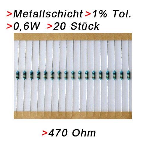 Sourcingmap 100 St/ück 1W 10K Ohm Carbon Film Widerstand 5/% Toleranz 4 Farbb/änder