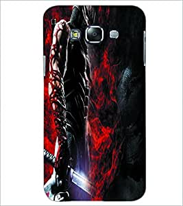 PrintDhaba Abstract Image D-4028 Back Case Cover for SAMSUNG GALAXY A7 (Multi-Coloured)