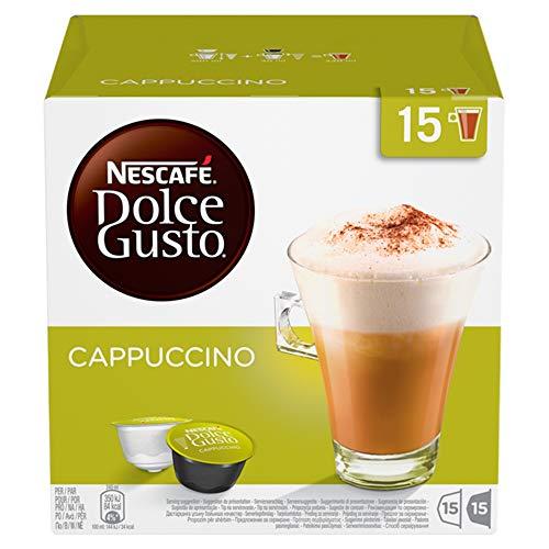 Nescafé Dolce Gusto Barattolo Box Cappuccino, 3X 30Capsule Latte & caffè, confezione da (90Capsule)