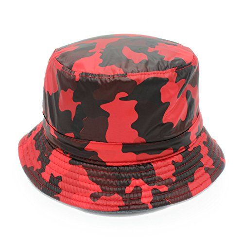 XIKAKI Camouflage Cashmere Fischer Hut warme Schnee Regen Hat Fleece Womens Hut (Color : Red Camo 57 yards, Size : 57-59cm)