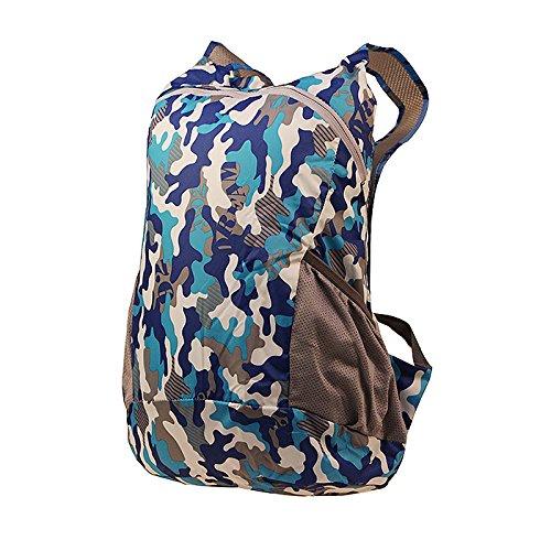 LWJgsa Reise - Rucksack Männer Und Frauen Faltbare Tasche Ultraleicht - Camouflage Tragbares Licht Einfache Rucksack blaue blaue zauberspruch