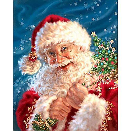 Jkhhi Diamant Stickerei Malerei Mosaikherstellung Strass Eingefügt Diamond Painting Gemälde Kreuzstich Weihnachten Weihnachtsbaum Muster Home Wall Decor (Lichter Weihnachten Mexikanische)