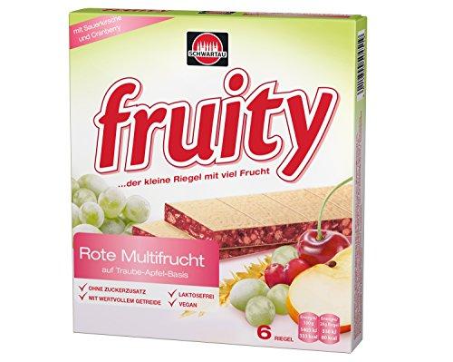 Schwartau fruity Rote Multifrucht, 6 x 24 g Riegel, 144 g Schachtel