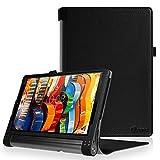 Fintie Lenovo Yoga Tab 3 Pro / Yoga Tab 3 Plus 10 Housse Étui - Folio PU Cuir Protection Coque Haute Qualité Case für Tablette projecteur Lenovo Yoga Tab 3 10 Pro / Yoga Tab 3 Plus 10.1 inch Tablet (*Noir)