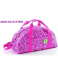 Agatha Ruiz De La Prada Bolsa de Deporte y Viaje, Color Rosa