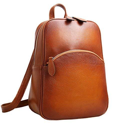 HESHE Damen heshe lässige Leder Rucksack Daypack für Damen (l) 10.23 * (h) 12.99 * (w) 4,33 in sauerampfer-r