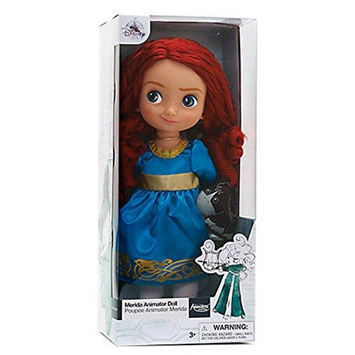Offizielle Disney Merida Brave 38cm Animator Kleinkind-Puppe mit Zubehör-Angus
