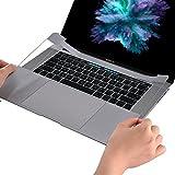 ChasBete Custodia Protettiva per MacBook Palm Rest Ultra Sottile Resistente con Adesivo Protettivo Trackpad per MacBook Pro 15 Pollici Versione 2016 con Touch Bar modello A1707 Grigio