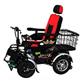 TX Electric wheelchair folding super light automatic multifunctional elderly disabled 4 wheeled scooter with carrying basket, 48V 32A 75Km Lead-acid batteries