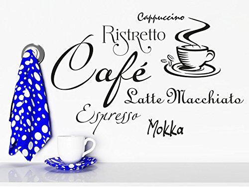 Klebeheld® Wandtattoo Kaffee Begriffe (Gratis Kaffee Proben)