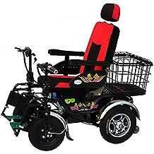 TX Silla de Ruedas eléctrica Plegable súper Ligero automático Multifuncional Anciano discapacitado Scooter de 4 Ruedas