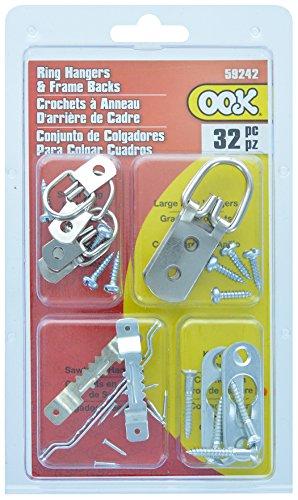 ook par Hillman 535672 59242 Zinc Bague assorties Cintre et cadre photo arrière kit, 32 pièces