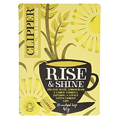 Clipper Organic Rise & Shine, Lemongrass and Yerba Mate Infusion 20 bags