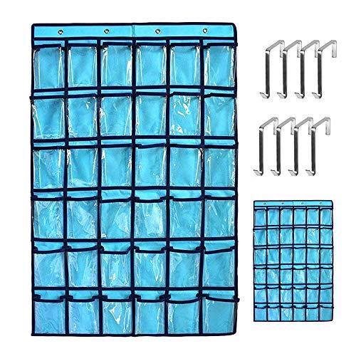 Klarsichthüllen für Handys mit 8 Edelstahlhaken, Taschenrechnerhalter und Organizer zum Aufhängen von Türen und Wänden ()