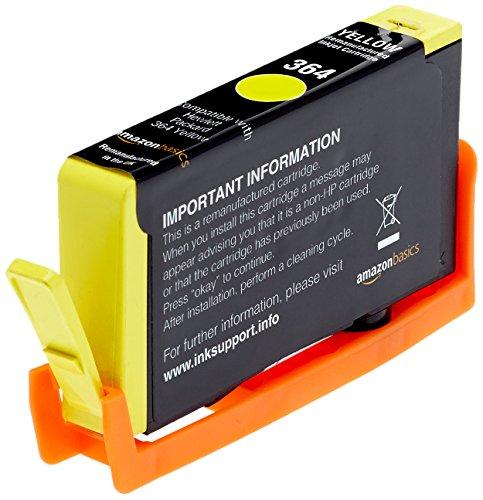 Preisvergleich Produktbild AmazonBasics Wiederaufbereitete Tintenkartusche HP 364, Gelb