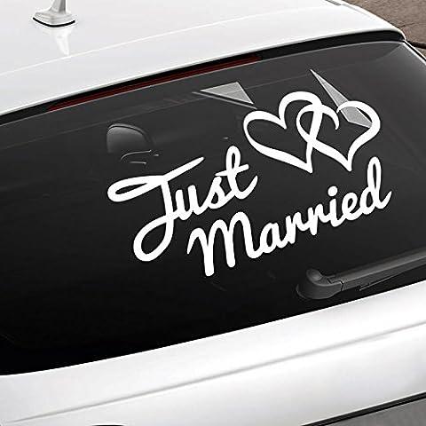 Just Married Car Sign - Fun Window Decal - Wedding Cars / Reception & Honeymoon