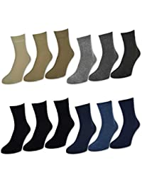6 oder 12 Paar Herren Kurzschaft Socken versch. Farben - 32029 - sockenkauf24