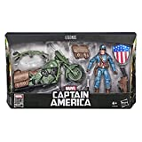 Hasbro Marvel Legends Series- Captain America con Veicolo ed Accessori, Multicolore, E4704CB0